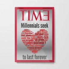 millennials seek love to last forever Metal Print