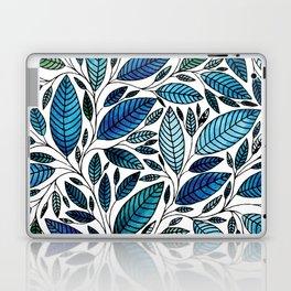 Blue Leaves / leaf Illustration (P07 063) Laptop & iPad Skin