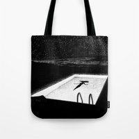 apollonia Tote Bags featuring asc 593 - Le silence des cigales (The midnight lights) by From Apollonia with Love