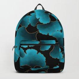 Blue ginkgo biloba Backpack