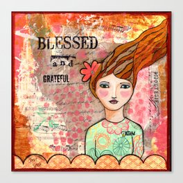 Blessed and Grateful Canvas Print