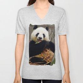 Munching Pandas Unisex V-Neck