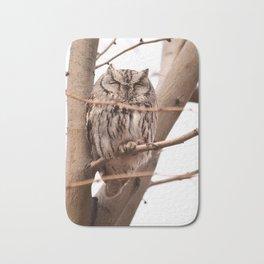 Wild Owl - Ivins, Utah Bath Mat