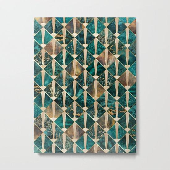 Art Deco Tiles - Ocean Metal Print