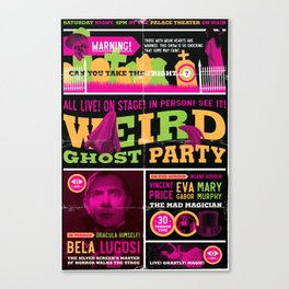 Spook Show Tribute Poster 02 Canvas Print