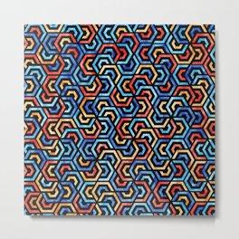 Seamless Colorful Geometric Pattern XXXI Metal Print