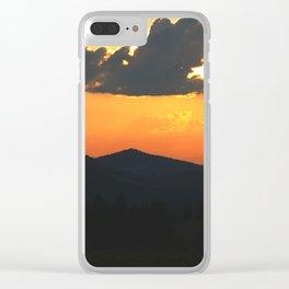 Mountain sunse Clear iPhone Case