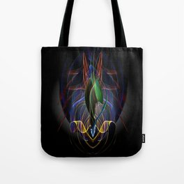 Art Deco Flower Tote Bag