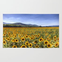 Sunflower Summer Field Rug