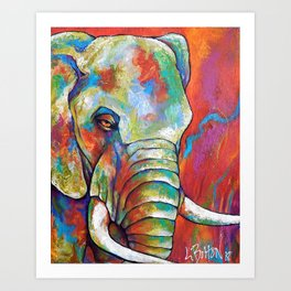 Endangered Forest Elephant Art Print