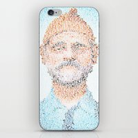 steve zissou iPhone & iPod Skins featuring The Aquatic Steve Zissou by Robotic Ewe