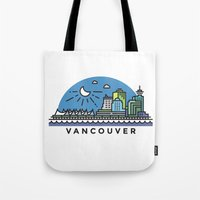 vancouver Tote Bags featuring Vancouver by Campbell Graphix