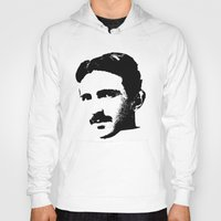 tesla Hoodies featuring Nikola Tesla by Mobii