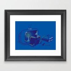 Rethink yourself Framed Art Print