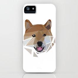 Low polygon shiba inu face iPhone Case