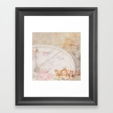 Timeless Victorian Collage Framed Art Print