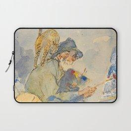 """Théophile Steinlen  """"Autoportrait aux chats"""" Laptop Sleeve"""