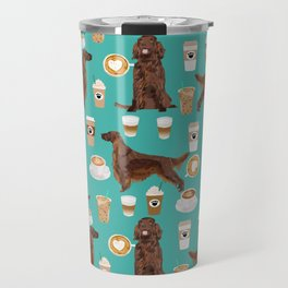 Irish Setter coffee latte dog breed cute custom pet portrait for dog lovers Travel Mug