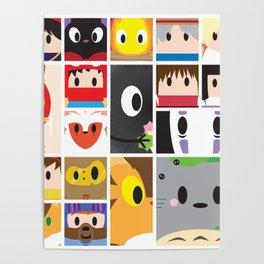 World of Ghibli Blocks Poster