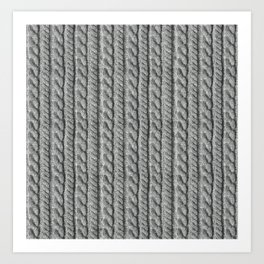 Grey Knit feeling Art Print