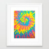 tie dye Framed Art Prints featuring Tie Dye by Jillian Stanton