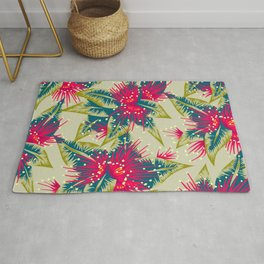 New Zealand Rata floral print (Day) Rug