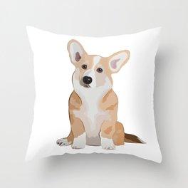 Corgi Waiting Throw Pillow