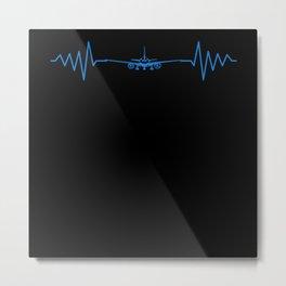 Heartbeat Navigation Airport Pilot Metal Print