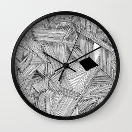 The Open Door Black/White Palette Wall Clock
