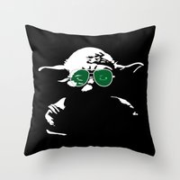 yoda Throw Pillows featuring Yoda by eARTh