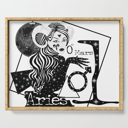 Aries - Zodiac Sign Serving Tray