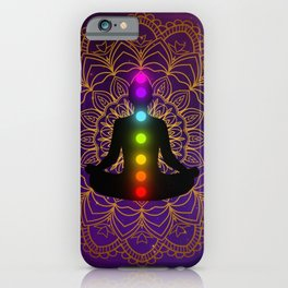 Chakra meditation iPhone Case