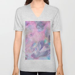 Soft Color Mermaid Style Unisex V-Neck