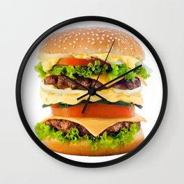 Cheeseburger YUM Wall Clock