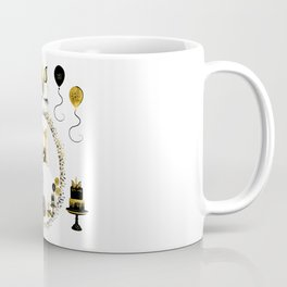 Pretty Golden Unicorn Birthday Girl 11 Years Born 2007 Coffee Mug