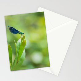 Metallic dragonfly Stationery Cards