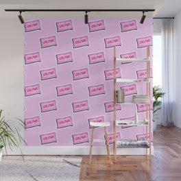 #GRLPWR Girl power Pink Wall Mural