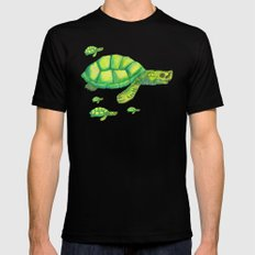 Myanmar River Turtle Black Mens Fitted Tee MEDIUM
