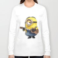 minions Long Sleeve T-shirts featuring MINIONS by DisPrints