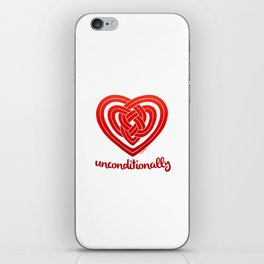 UNCONDITIONALLY in red iPhone Skin