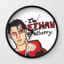 I'M ETHAN BRADBERRY H3H3 meme in oil pastel Wall Clock