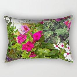 Mixed Annuals Rectangular Pillow