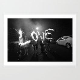 Long Exposure Love Art Print