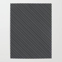 Sharkskin and Black Stripe Poster