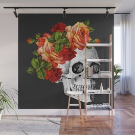 Day of the Dead Black Linen Wall Mural