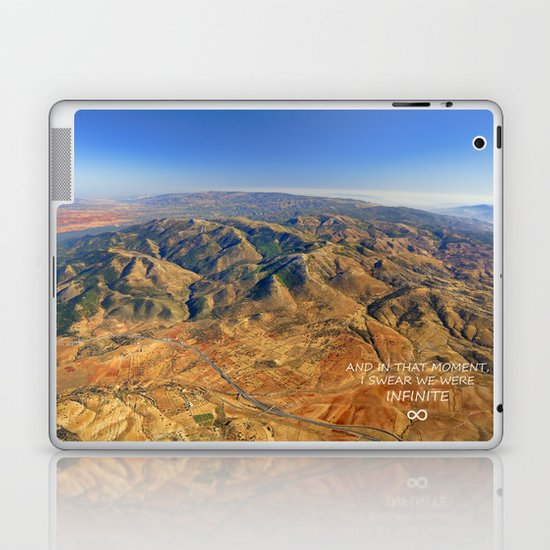 And in that moment, I swear we were infinite ∞. Aerial photo Laptop & iPad Skin