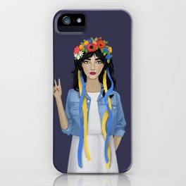 Jean Jacket Ukrainian iPhone Case