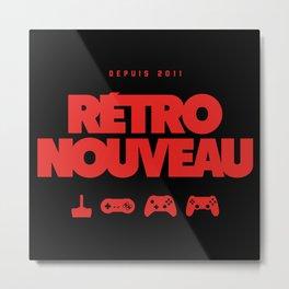 Rétro Nouveau (Rouge) Metal Print