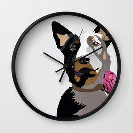 Jasper in pink Wall Clock