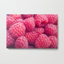 Fresh raspberries Metal Print